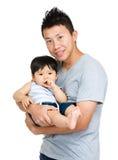 Папа и его сын младенца стоковое изображение rf