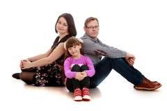 Папа и дочь мамы семейного фото стоковая фотография