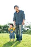 Папа и сынок стоковое фото rf