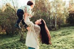Папа и сын мамы Стоковое Изображение