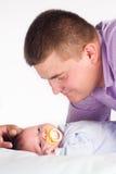 папа младенца его стоковое изображение rf