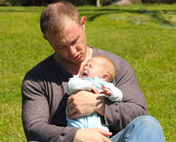 папа младенца стоковое фото rf