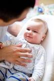 папа младенца стоковое фото