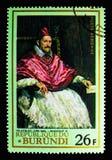 Папа Невиновный X Velazquez, известным serie картин, около 1968 стоковые изображения