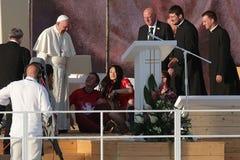Папа 2016 дня молодости мира Фрэнсис стоковое изображение