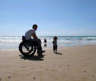 папа ребенка с ограниченными возможностями Стоковые Фотографии RF