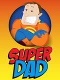 Папа супергероя день будет отцом счастливого иллюстрация штока