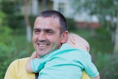 Папа с маленьким сыном стоковые фотографии rf
