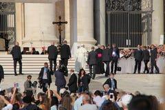 Папа Фрэнсис в Риме Стоковое фото RF