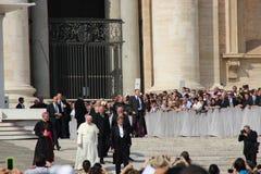 Папа Фрэнсис в Риме Стоковое Фото