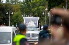 Папа Фрэнсис навещанное в Литве стоковое фото