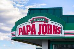 Папа John' экстерьер ресторана s Стоковые Изображения RF