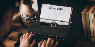 Папа Merci написанная на бумаге стоковое изображение