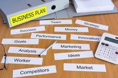 Папка бизнес-плана Стоковые Фотографии RF