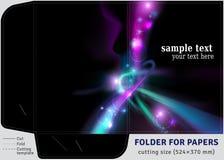 Папка картона шаблона для листов бумаг A4 Стоковое фото RF