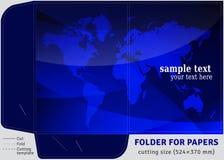 Папка картона шаблона для листов бумаг A4 Стоковая Фотография