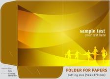 Папка картона шаблона для листов бумаг A4 Стоковое Изображение