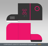 Папка-концепция 06 дела фирменного стиля Стоковое Изображение