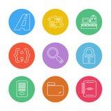папка, файлы, каталог, поиск, код, значки eps установила vecto бесплатная иллюстрация