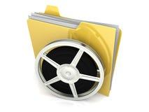 Папка цифров видео- иллюстрация штока