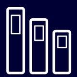Папки или значок документов планов белизны комплекта Стоковые Изображения