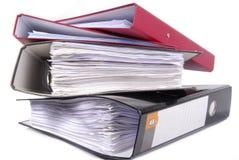Папки офиса изолированные на белизне Стоковое фото RF