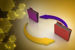 Папки офиса с стрелкой цикла Стоковая Фотография RF