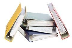 Папки для важных документов Стоковая Фотография