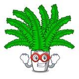 Папоротники шаржа супергероя красивые в зеленой листве иллюстрация штока