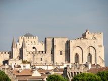 Папский дворец исторический дворец расположенный в Авиньоне, южной Франции  стоковое фото rf