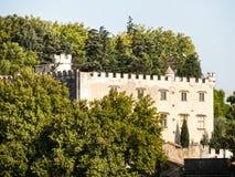 Папский дворец исторический дворец расположенный в Авиньоне, южной Франции  стоковое изображение