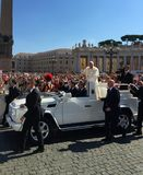 Папский квадрат St Peter's аудитории стоковое фото rf