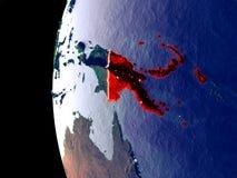 Папуаая-Нов Гвинея на глобусе от космоса бесплатная иллюстрация