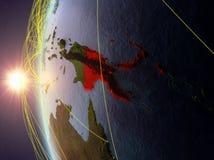Папуаая-Нов Гвинея от космоса с сетью бесплатная иллюстрация