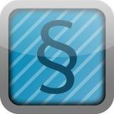 параграф иконы app Стоковые Изображения