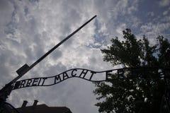 Парадные ворота Освенцима стоковые изображения