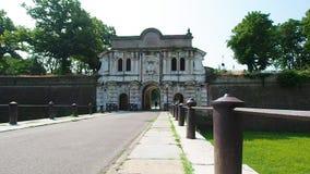 Парадный вход к della Cittadella Parco в Парме акции видеоматериалы