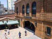 Парадный вход центрального железнодорожного вокзала, наследи-перечисленный железнодорожный вокзал расположенный на южном конце Си стоковые изображения