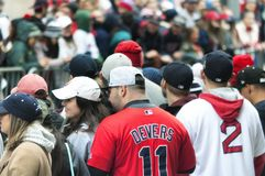 Парад Бостон Ред Сокс 2018 стоковые фотографии rf