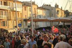 Парад в гавани St Tropez стоковые изображения