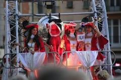 Парад в гавани St Tropez стоковая фотография rf
