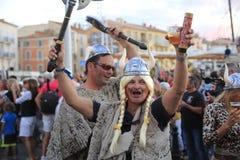Парад в гавани St Tropez стоковые фотографии rf