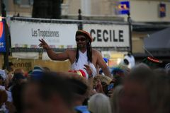 Парад в гавани St Tropez стоковая фотография