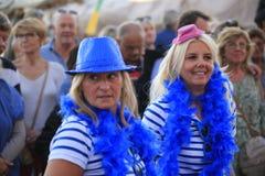 Парад в гавани St Tropez стоковое фото rf
