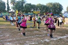 Парад в дне спорта основных студентов стоковые изображения rf