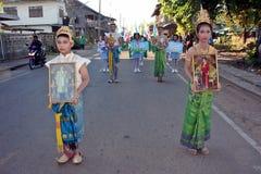 Парад в дне спорта основных студентов стоковое фото rf