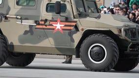 Парад в честь победы в Второй Мировой Войне Воинский автомобиль сток-видео