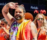 Парад гей-парада в Сан-Франциско - маршах гомосексуалиста Стоковое фото RF