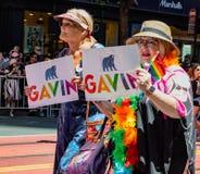 Парад гей-парада в Сан-Франциско - стороннике мэра Gavin Newsom Стоковое Изображение