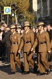 Парад день памяти погибших в первую и вторую мировые войны Стоковое Изображение